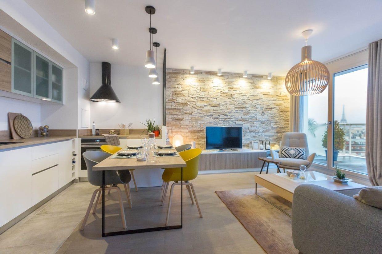 Un appartement tout neuf et personnalisé de 18 m²  Cuisines dans
