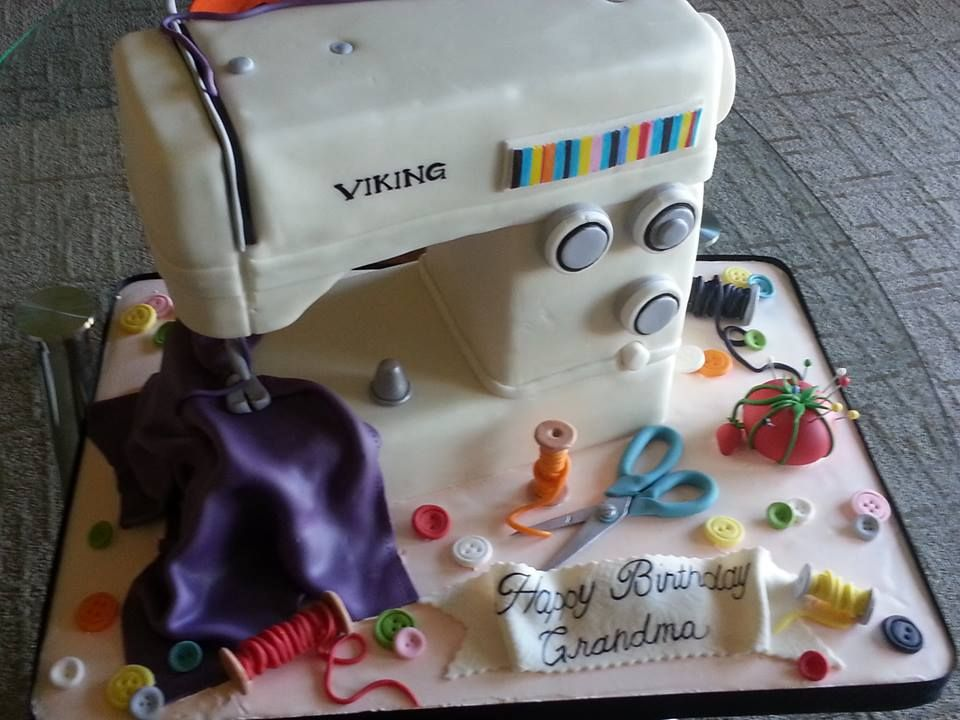 sewing machine cake my passion for cakes. Black Bedroom Furniture Sets. Home Design Ideas
