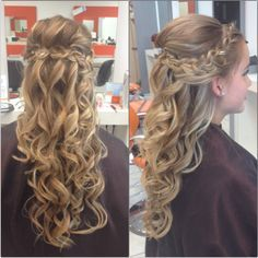 half up half down wedding hair  flower girl hairstyles