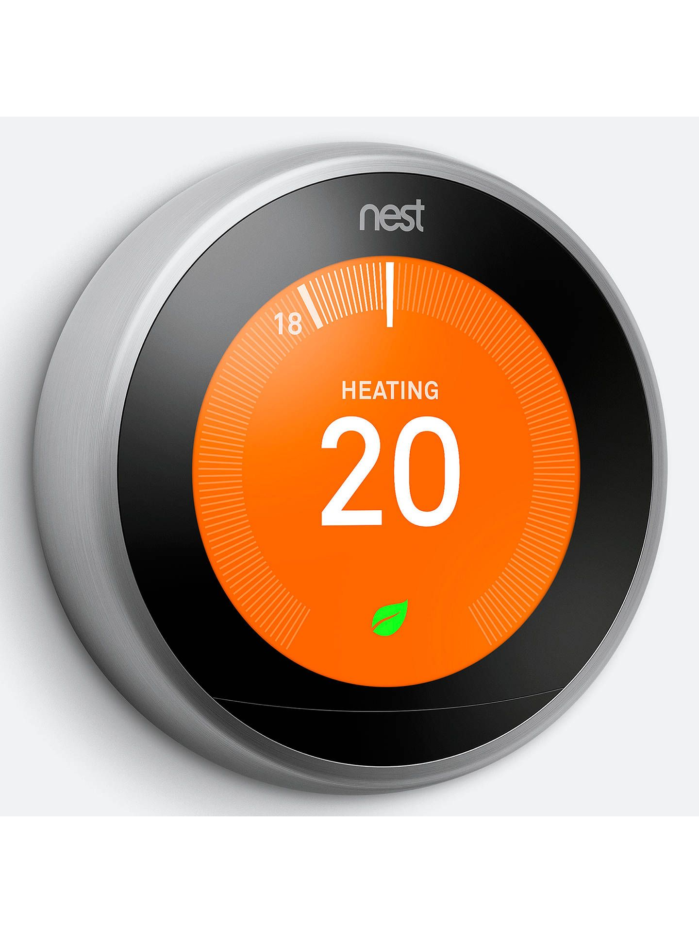 Google Nest Learning Thermostat, 3rd Generation, Stainless
