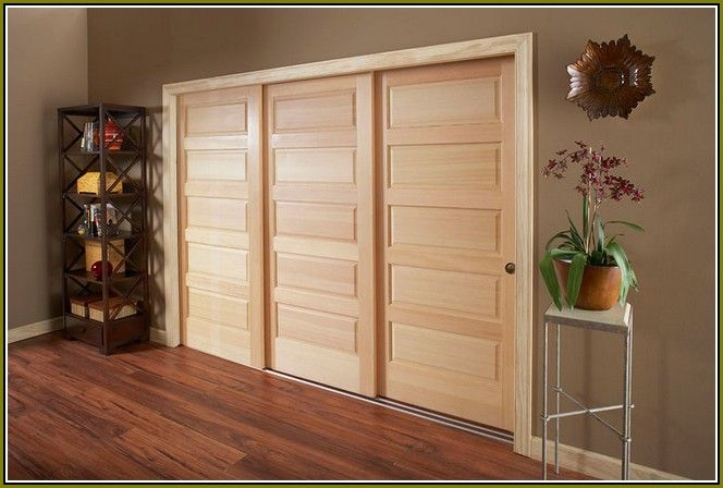 Triple Track Bypass Closet Doors Home Design Ideas Sliding