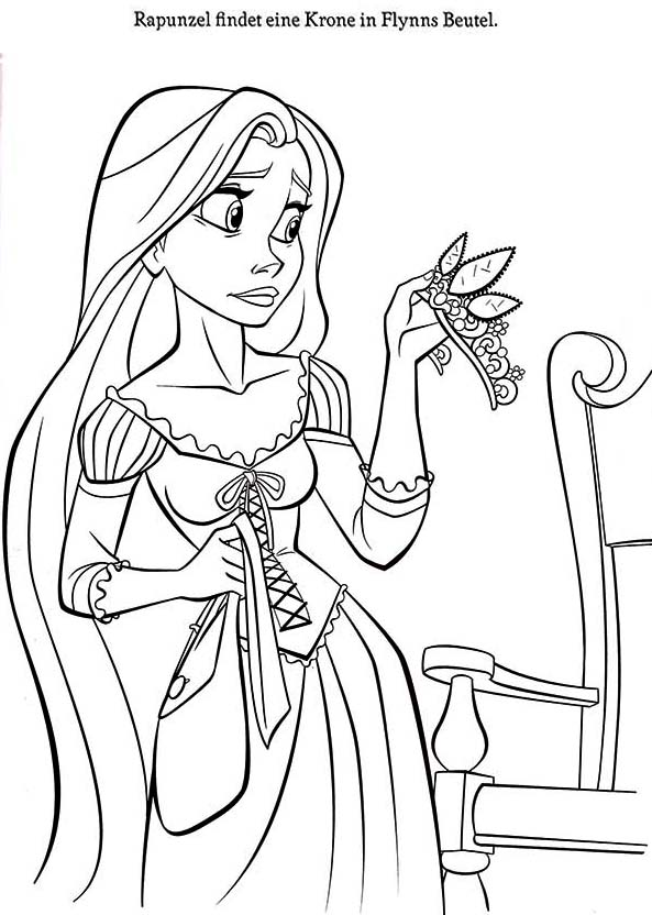 Rapunzel 2705 Ausmalbilder Ausmalbilder Disney Ausmalen