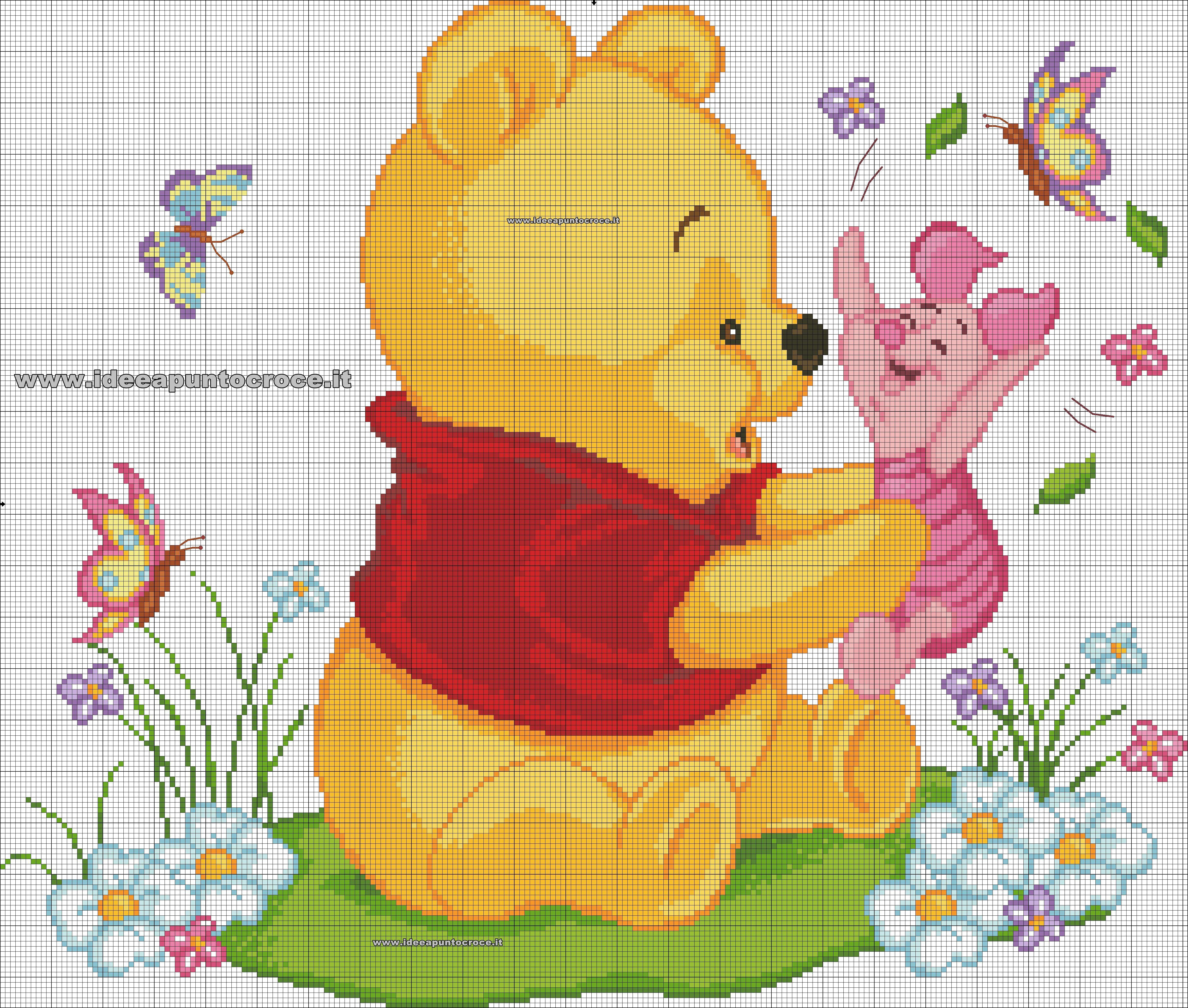 Schema punto croce winnie the pooh dessin letras em for Winnie the pooh punto croce schemi