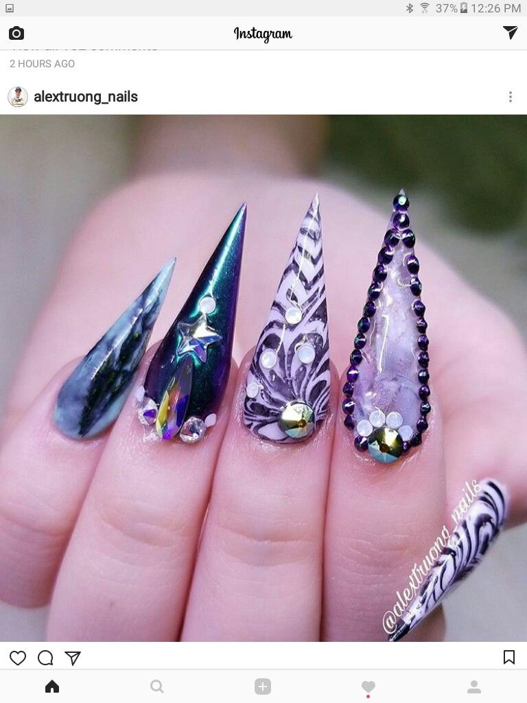 Pin by YulitzaQuevedo on Acrílicos | Pinterest | Nail nail, Stiletto ...