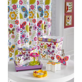 Make Bath Time Fun With The Vibrant Erfly And Flower Design Of
