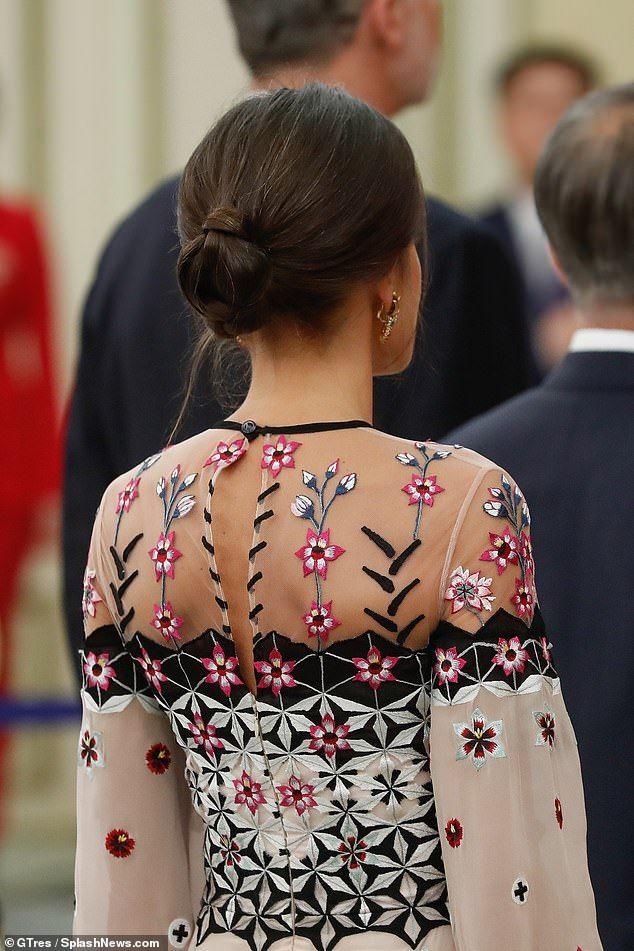 Queen Letizia exudes elegance in a pastel floral dress in Seoul
