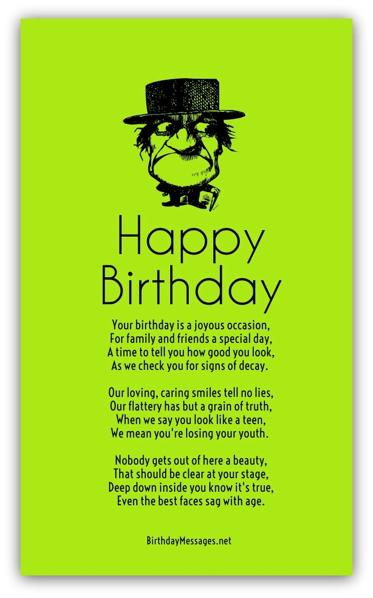Funny Birthday Poems Page 2 Cards Pinterest Funny