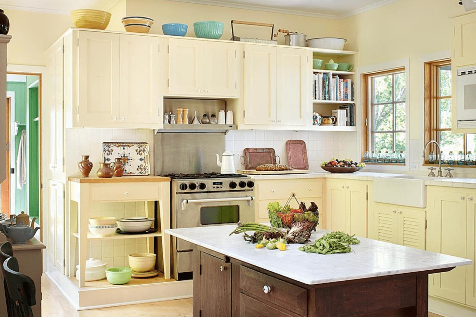 Gelbe fliesen bad ideen  atemberaubenden moderne küche farbschemata ideen bild