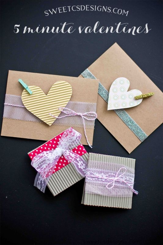 Make Quick And Adorable 5 Minute Valentines With Clothespins Lace