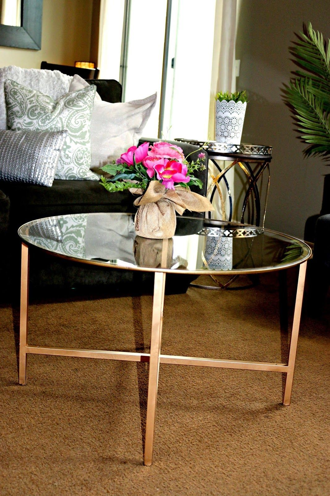 Vittsjo Round Coffee Table Hack Collection Capri Co Diy Ikea Hack Vittsjo Coffee Table Coffee Table Hacks Diy Ikea Hacks Ikea Diy [ 1600 x 1066 Pixel ]