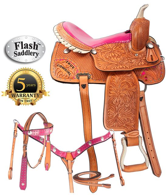 True Cowgirl Pink Barrel Racing Western Saddle By Flash