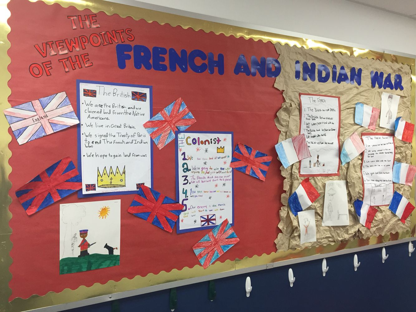 Classroom Bulletin Board French And Indian War The