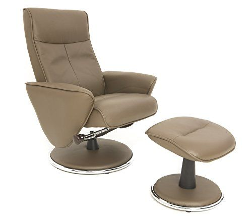 The Quattro - Genuine Leather Recliner Chair and Footstool with ...