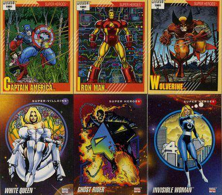 MARVEL UNIVERSE SERIES 5 1994 SET OF 9 COLOUR POWERBLAST CARDS