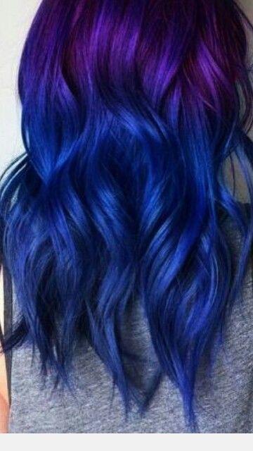 Pin By Sammy Nunez On Hair Mermaid Hair Color Hair Styles Purple Ombre Hair