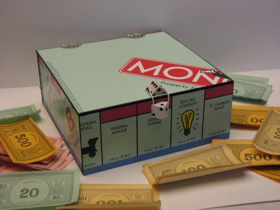 Monopoly Game Board Storage Box   Why Are These So Cool.. Oh I