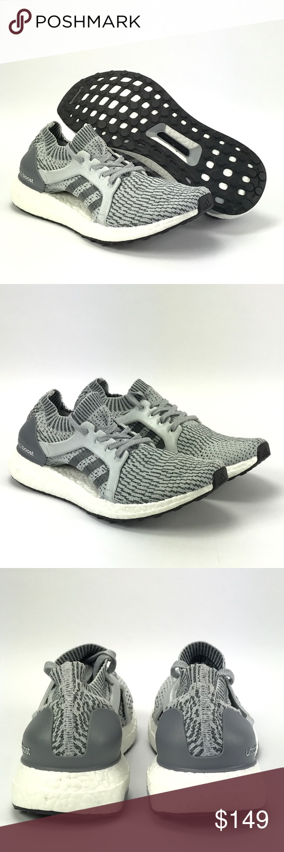 61eaac772 Adidas Ultra Boost X Womens Running Shoes Size 9.5 Adidas Ultra Boost X  Womens BB1695 Clear Grey Primeknit Running Shoes Size 9.5 New without box.