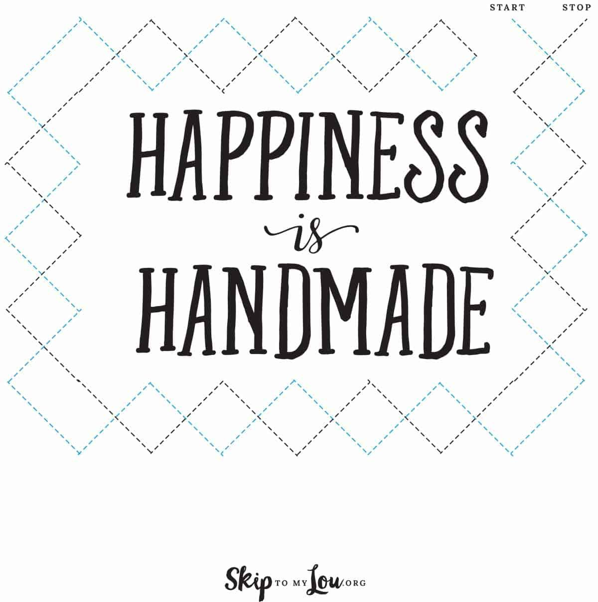 Happiness Is Handmade Sewing Sheet