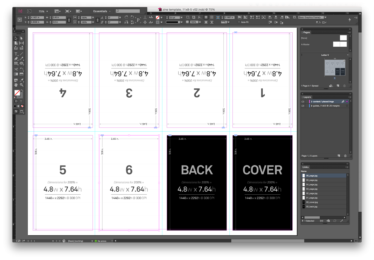 Indesign Zine Template | zines | Pinterest