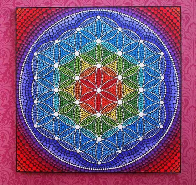 Wunderschöne Mandalas auf Steinen, Naturkunst #steinebemalenvorlagen
