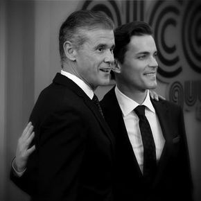 Impressive and charismatic couple. Simon Halls & Matt Bomer #LoveisLove simon halls - Twitter Search