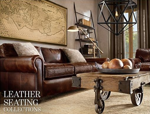 Leather #wood Home Decor/Design Looks Pinterest Woods And Colonial   Tapeten  Wohnzimmer Braun