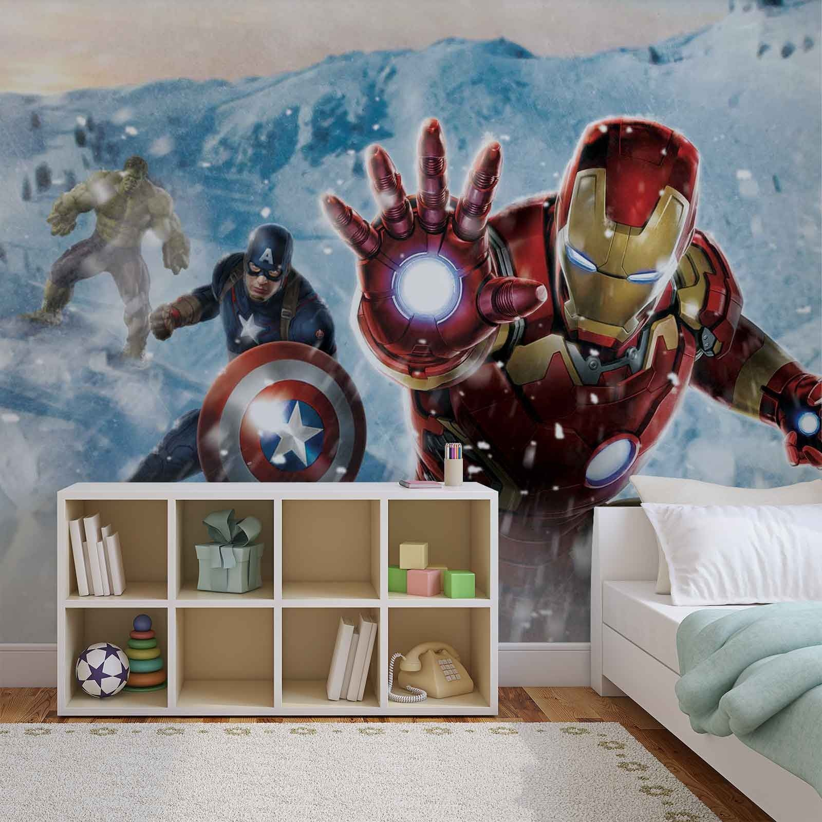 Best Marvel Wall Mural Photo Wallpapers For Kids Room Kids 400 x 300