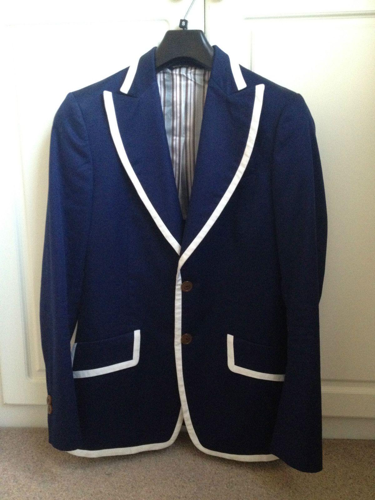 VIVIENNE WESTWOOD MAN ULTRAMARINE BLUE TOMMY NUTTER JACKET SIZE 46 UK 36