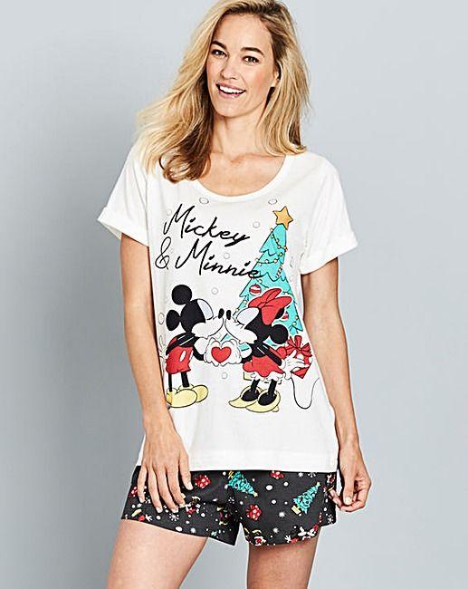 Minnie And Mickey Shortie Pyjamas J D Williams Pajamas Women Pyjamas Plus Size Intimates
