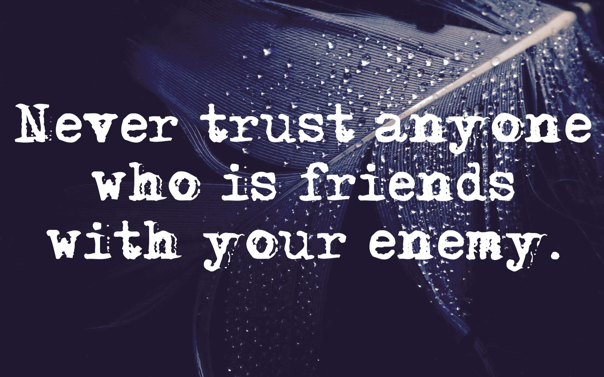 Never Trust Anyone Who Is Friends With Your Enemy What She Had
