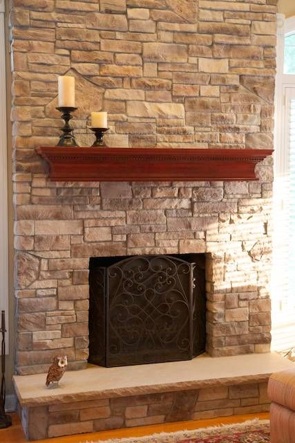 North Star Stone Stone Fireplaces Stone Exteriors: Wisconsin Prairie Stone Veneer Fireplace Pictures