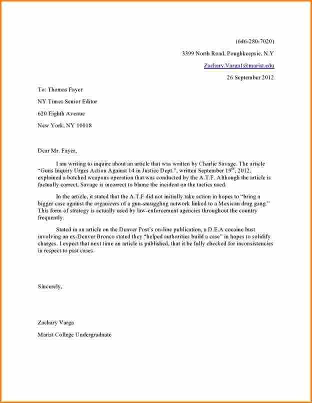 Image Result For Letter To Editor Format  Formal Letters