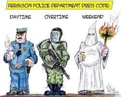 KKK Ku Klux Klan and Ferguson Police Ties Exposed by Anonymous. Ferguson-Police-Department-Dress-Code