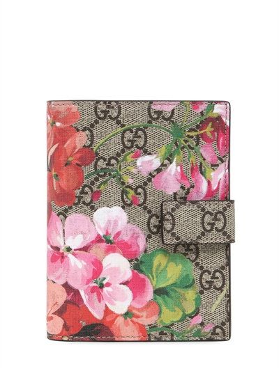 1030f8c1 GUCCI Blooms Print Gg Supreme Passport Holder, Pink. #gucci #wallets ...