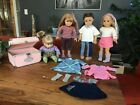 Four American Girl dolls plus accessories #Doll #indianbeddoll