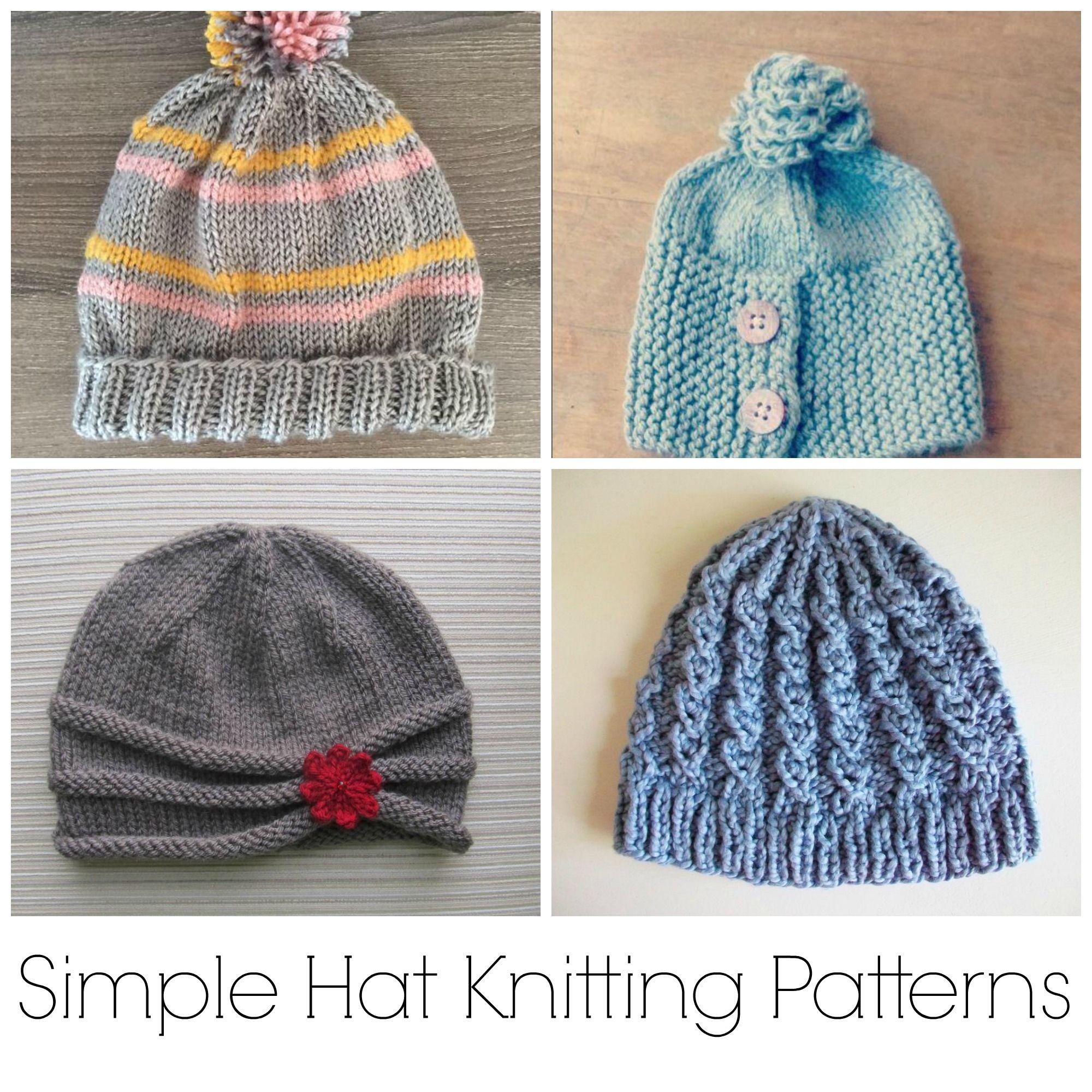 10 No-Fuss, Simple Hat Knitting Patterns | Gorros para dama, Gorros ...