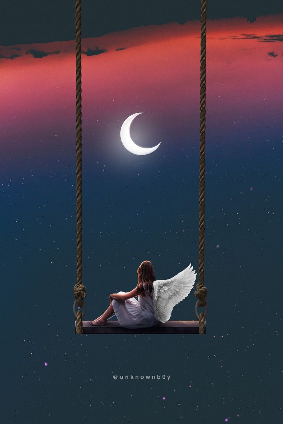 Image result for girl in the moon