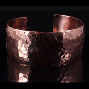 Hammered copper cuff bracelet