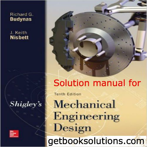 download Shigley's Mechanical Engineering Design 10th