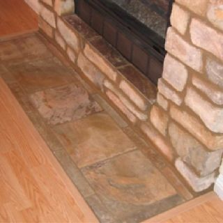 Tile In Front Of Fireplace Wood Trim With Floor Fireplace Decor Fireplace Tile Flooring