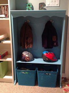 Kids Coat Rack Made From $10 Bookshelf!