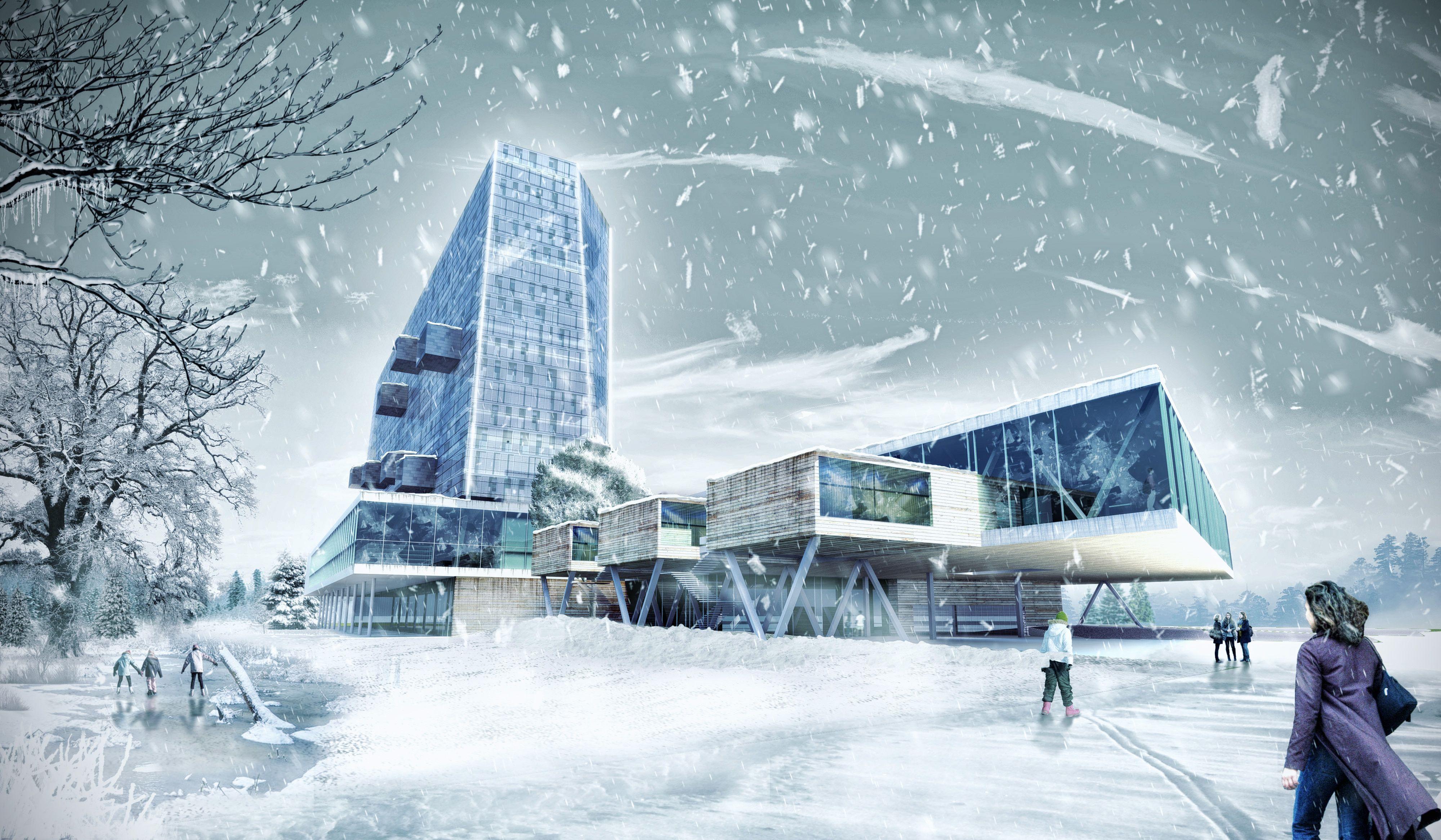 Building for Bouwkunde - Winter Rendering - Jaime Henderson, Jens Kolb, Mike Martinez