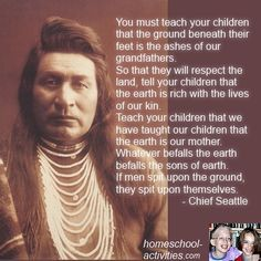 Image Result For Chief Seattle Speech Poem Mother Earth Quotes Chief Seattle Indian Quotes
