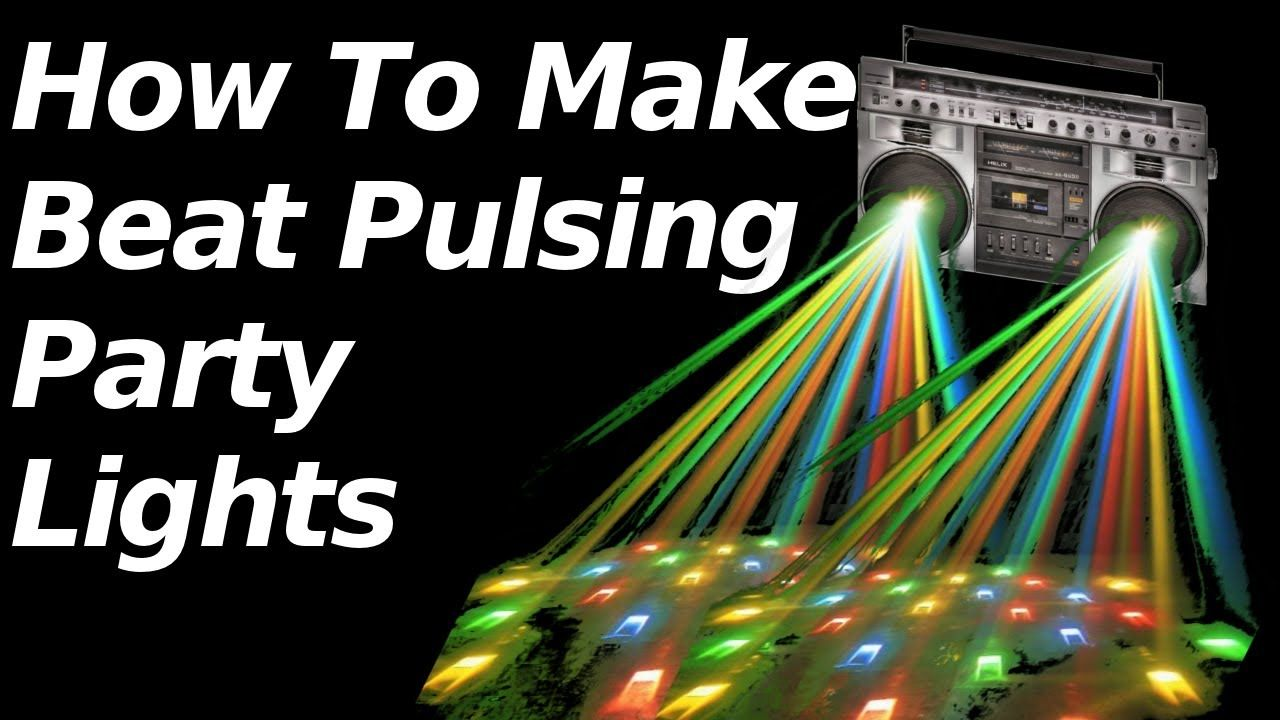 How to make lights flash to your music. Party lights