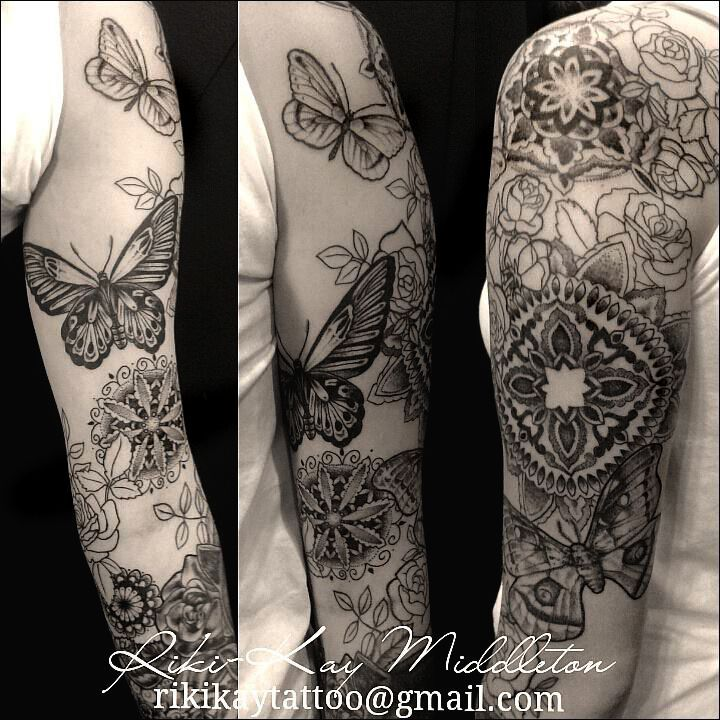 Image Result For Butterfly Half Sleeve Tattoo White Butterfly Tattoo Butterfly Tattoo Half Sleeve Tattoo