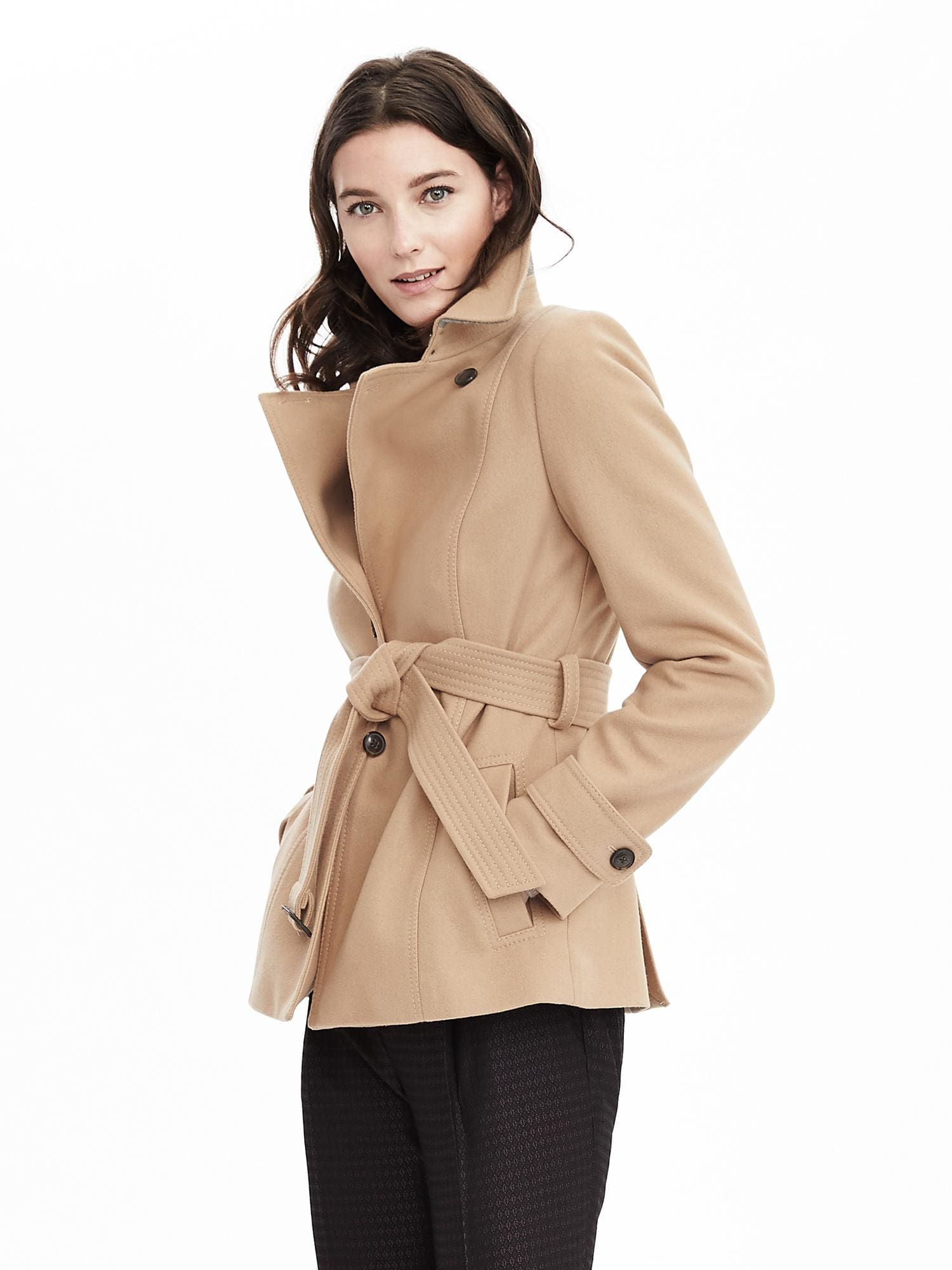 Melton Wool Short Trench Coat in Camel | DYT ❋ 3/1 | Pinterest ...