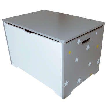 Coffre de rangement stars coloris gris pas cher cest sur conforama
