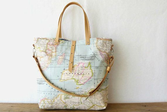 Last one in stock canvas tote bag world map tote bag travel bag world map bag tote messenger bag with map printed fabric large limited edition on etsy 11900 gumiabroncs Images