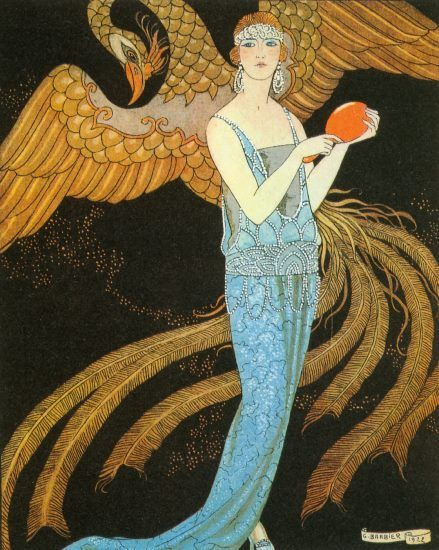 Evening Dress by Beer. Artist George Barbier 1920s