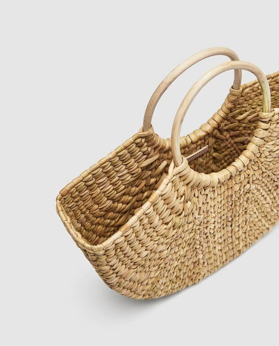 Image 4 Of Straw Bag With Rounded Handles From Zara